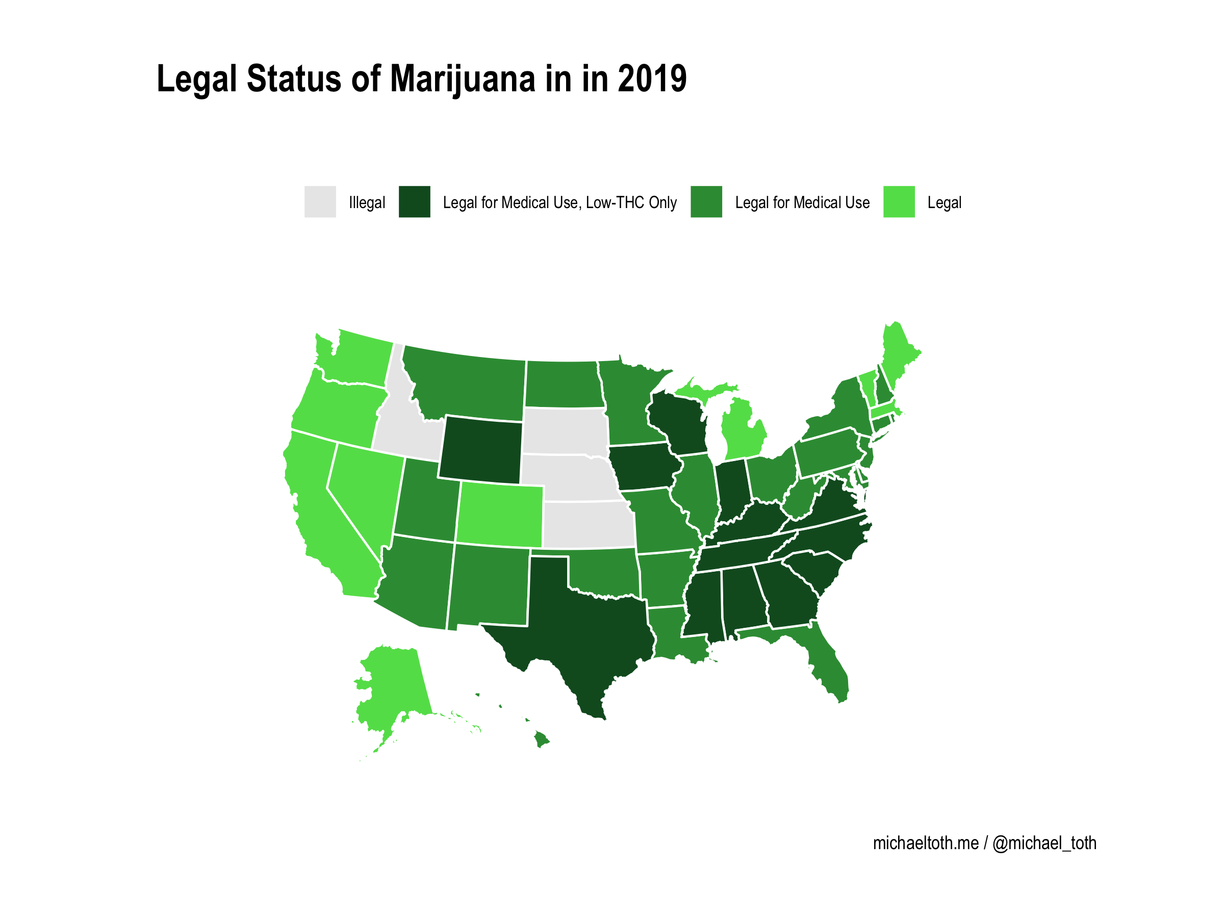 Map X.Mapping Legal Marijuana States And Medical Marijuana States 1995 2019